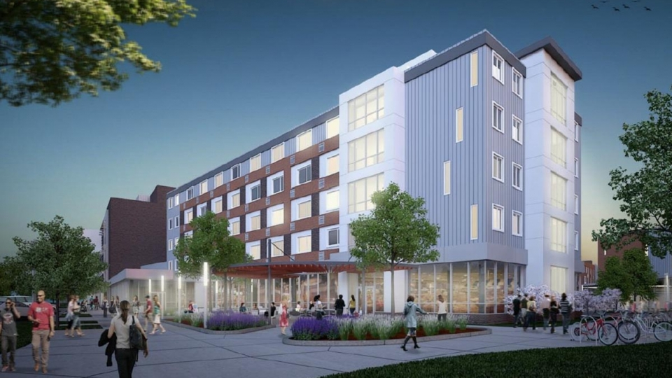 State Police Redevelopment Rendering