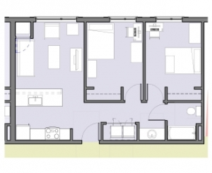 Apartments, Typical 2-Bedroom