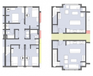 Typical Townhouse Unit Floor Plan