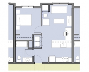 Family Housing, Typical 1-Bedroom
