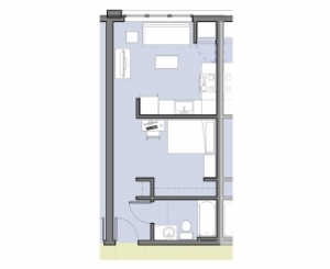 Apartments, Typical 1-Bedroom